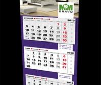 Kalendarz trójdzielny firmy FM BRAVO