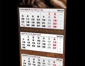kalendarz trojdzielny firmy GOSHE