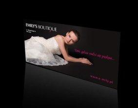 Baner salonu sukien ślubnych EMILY`S BOUTIQUE