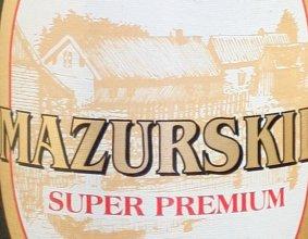 Etykieta piwa Mazurskie