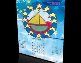 Kalendarz 13-stronicowy funduszu europejskiego Euro
