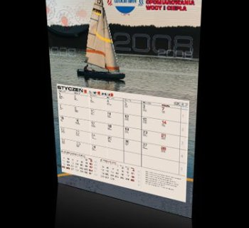 Kalendarz jednodzielny firmy WODMIAR