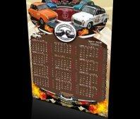 Kalendarz plakatowy KLUBU MIŁOŚNIKÓW SYREN I WARSZAW
