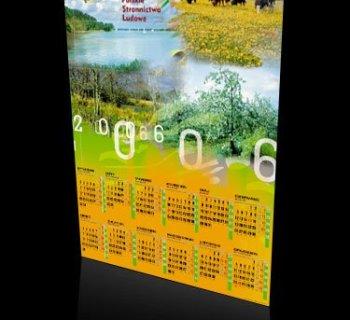 Kalendarz plakatowy POLSKIEGO STRONNICTWA LUDOWEGO