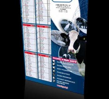 Kalendarz plakatowy firmy HYPRED