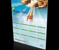 Kalendarz plakatowy firmy LINEA DECOR
