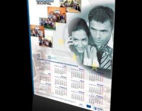 Kalendarz plakatowy firmy szkoleniowej TECHPAL