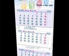 Kalendarz trójdzielny firmy Hypred