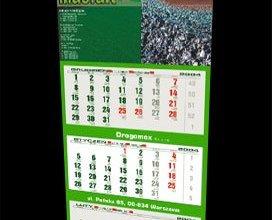 Kalendarz trójdzielny firmy MASFALT