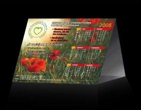 Kalendarz trójkątny Człuchowskiego Stowarzyszenia Przyjaciół Hospicjum