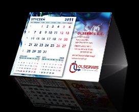 Kalendarz trójkątny firmy Olserwis
