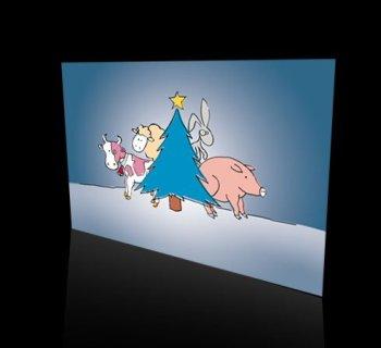 Karta świąteczna firmy IRZ