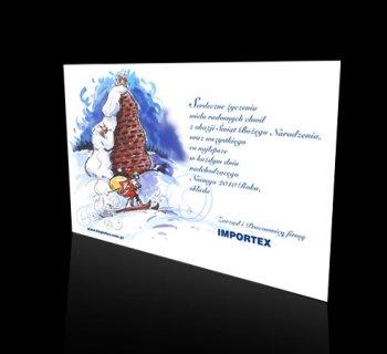 Kartka świąteczna firmy FS