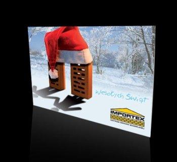 Kartka świąteczna firmy IMPORTEX