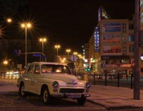 Olsztyn z Warszawy nocą