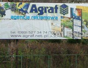 Tablica reklamowa AGRAF