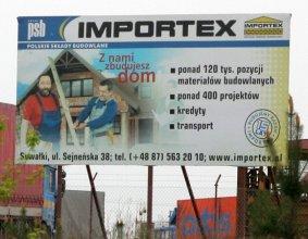 Tablica reklamowa firmy IMPORTEX