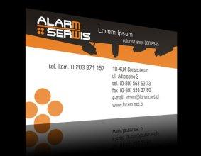Wizytówka firmy ALARM SERWIS