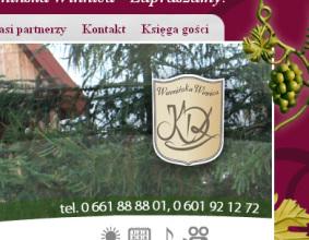 Strona www Warmińska Winnica
