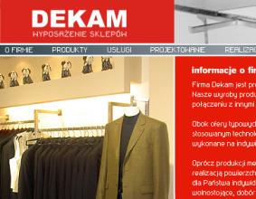 Strona www DEKAM