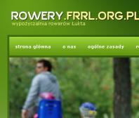 Strona www wypożyczalni rowerów w Łukcie