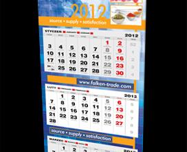 Kalendarz Falken Trade na rok 2012