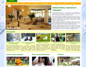 Strona internetowa ośrodka Wiatraki