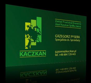 Wizytówki firmy Kaczkan