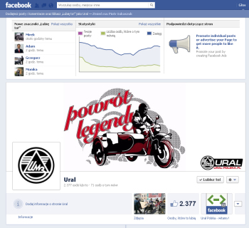 Fanpage dealera motocykli Ural