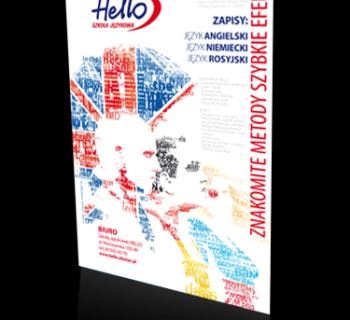 Plakat Szkoły Językowej Hello Agraf Agencja Reklamowa