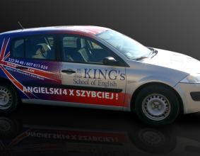 Oklejenie samochodu King's School Of English