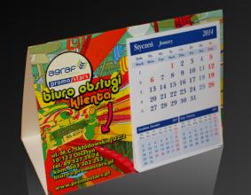 Kalendarz trójkątny Agraf Promostars na rok 2014