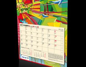 Agrafowy kalendarz na rok 2014