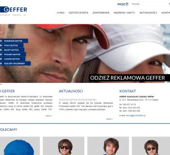 Strona www submarki Promostars- Geffer