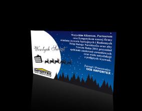 Karta Świąteczna firmy Importex