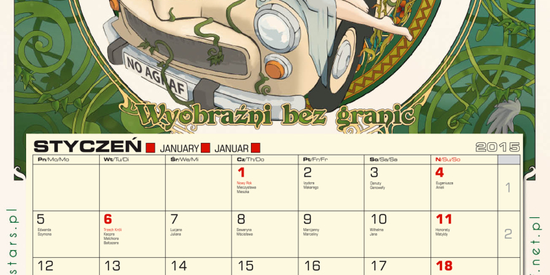 Agrafowy kalendarz na rok 2015