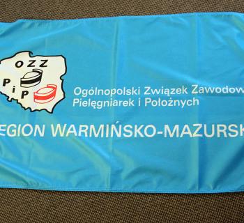 Flaga OZZPiP region Warmińsko-Mazurski