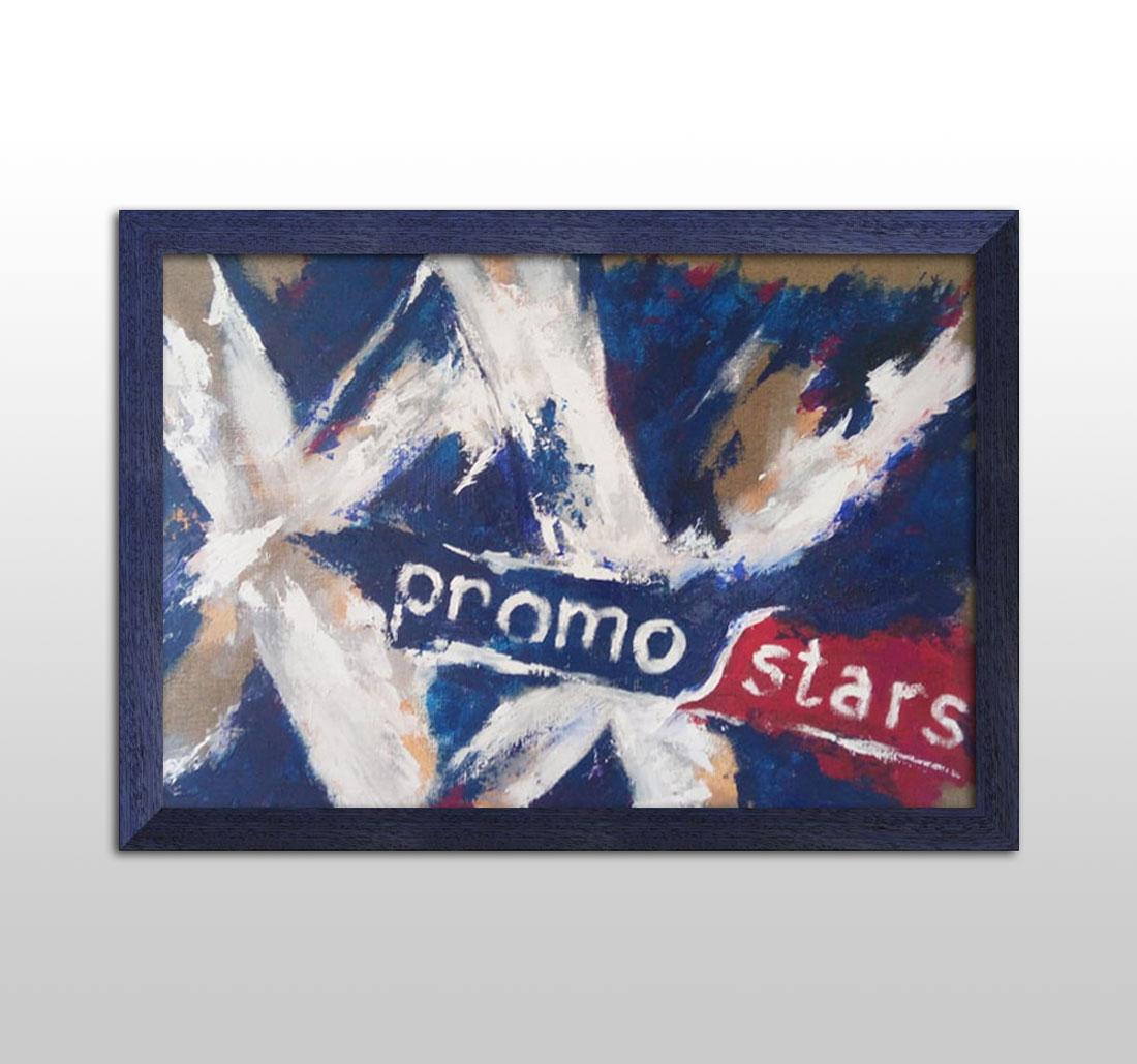 obraz na XX-lecie firmy Promostars - obraz na płótnie, akryl, szpachla, pędzel