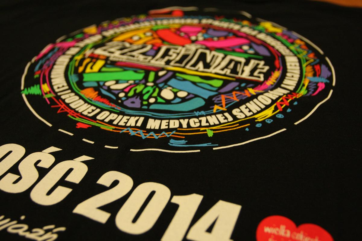 WOŚP 2013 - koszulka, sitodruk, projekt i wykonanie Agraf